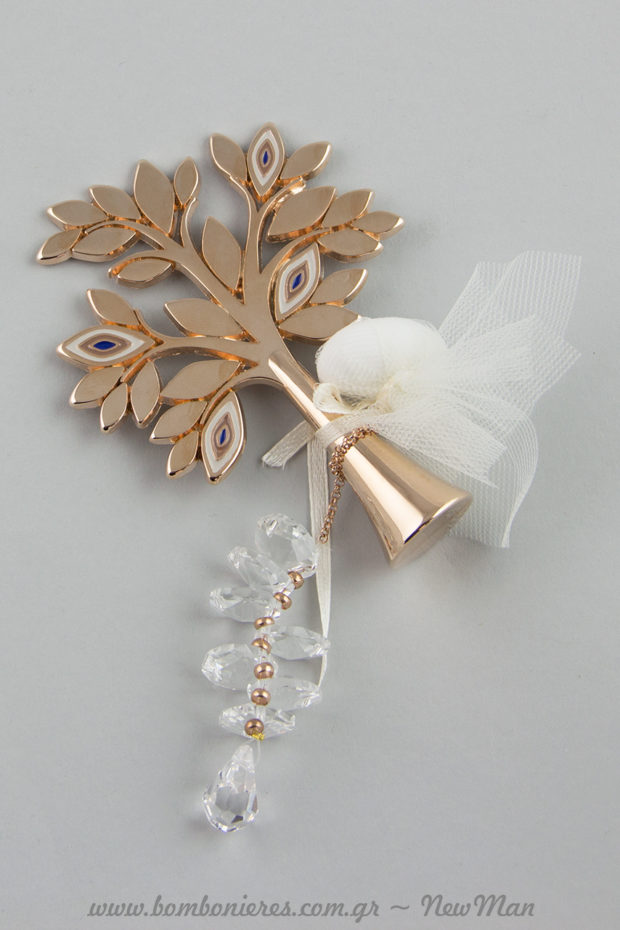 Μπομπονιέρα- Δέντρο της Ζωής με ματάκια και αλυσίδα (737026) για τον ξεχωριστό γάμο σας.