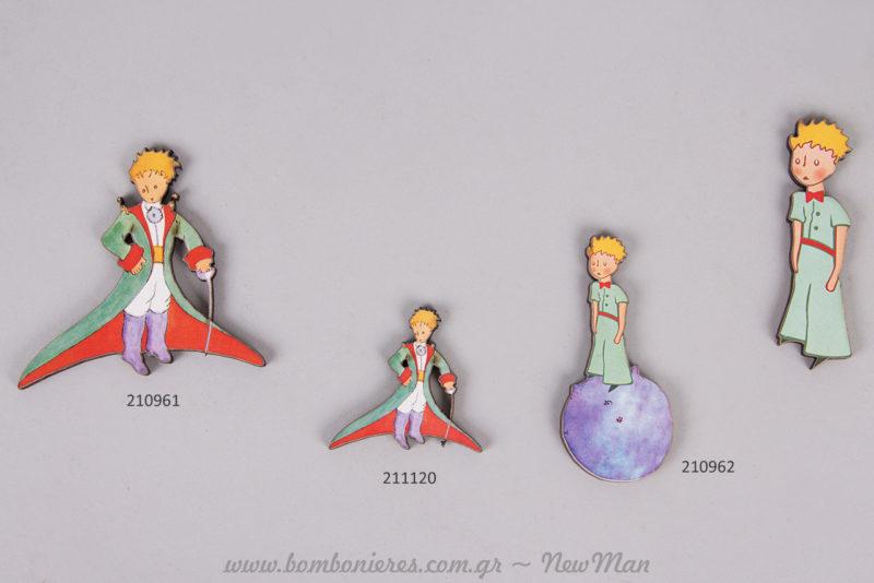 Φιγούρες του Μικρού Πρίγκηπα για τη διακόσμηση της θεματικής βάπτισης του μικρού σας.