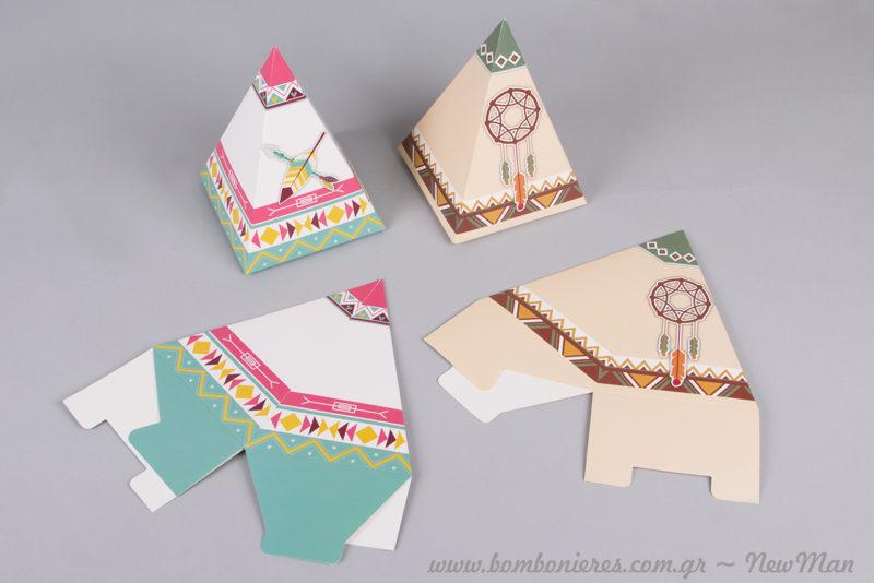 Πανεύκολα στη συναρμολόγηση, τα χάρτινα αυτά κουτιά θα εντυπωσιάσουν με την ιδιαίτερη αισθητική τους και τον όμορφο σχεδιασμό τους.