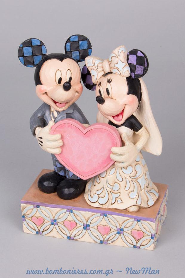 Ο Μίκυ και η Μίνι παντρεύονται. Διακοσμητικό για το τραπέζι των ευχών.