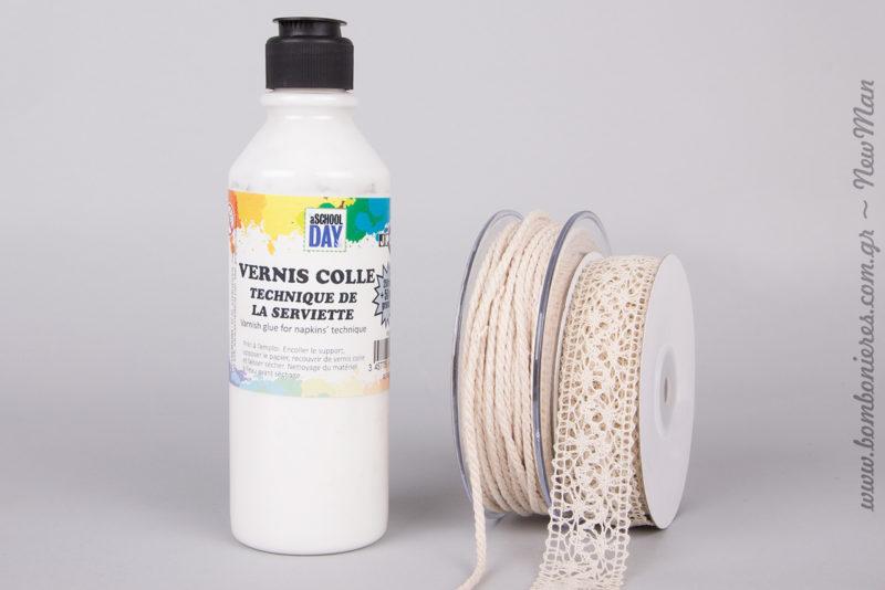 Ετικέτες Eco Brown (στρογγυλές), σφραγίδα διάφανη με ευχαριστήριο μήνυμα και ταμπόν Dye Izink Reglisse.