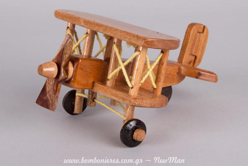 Αεροπλανάκι με vintage αισθητική για τη διακόσμηση και το στολισμό (τραπέζι ευχών ή ως centerpiece στο τραπέζι της δεξίωσης).