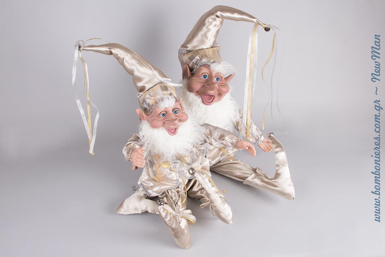 Χριστουγεννιάτικα Ξωτικά, χαρούμενα και σκανταλιάρικα για τη διακόσμησή σας. Διατίθενται σε δυο διαφορετικά μεγέθη: 66cm και 91cm.