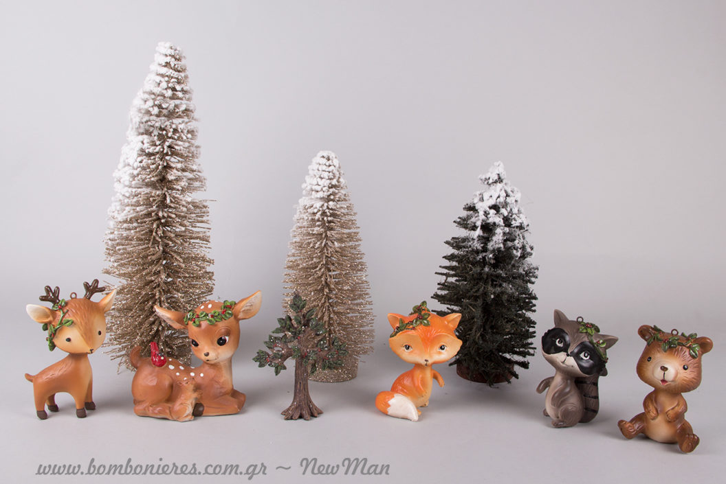 Χριστουγεννιάτικα Δεντράκια και Ζωάκια του δάσους για να στολίσετε κάθε αγαπημένη γωνιά του σπιτιού.