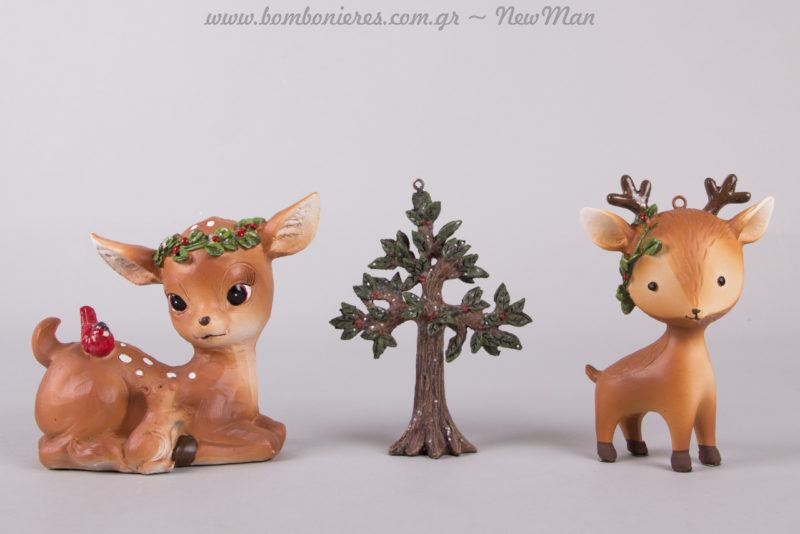 Το δεντράκι αυτό είναι σούπερ μίνιμαλ και χαριτωμένο (11cm). Πέστε τη δική σας χριστουγεννιάτικη ιστορία, δημιουργώντας συνθέσεις που θα εντυπωσιάσουν.