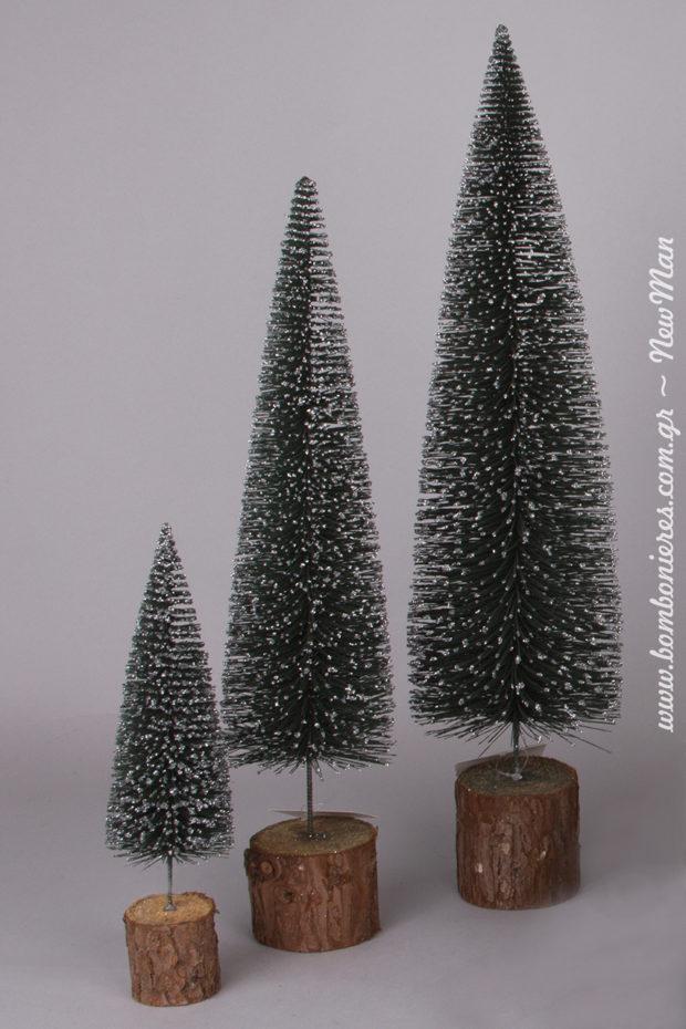 Τα μίνι χριστουγεννιάτικα δεντράκια είναι πανέμορφα και διατίθενται σε τρία διαφορετικά μεγέθη: (6 x 23cm, 9 x 38cm, 11.5 x 46cm).