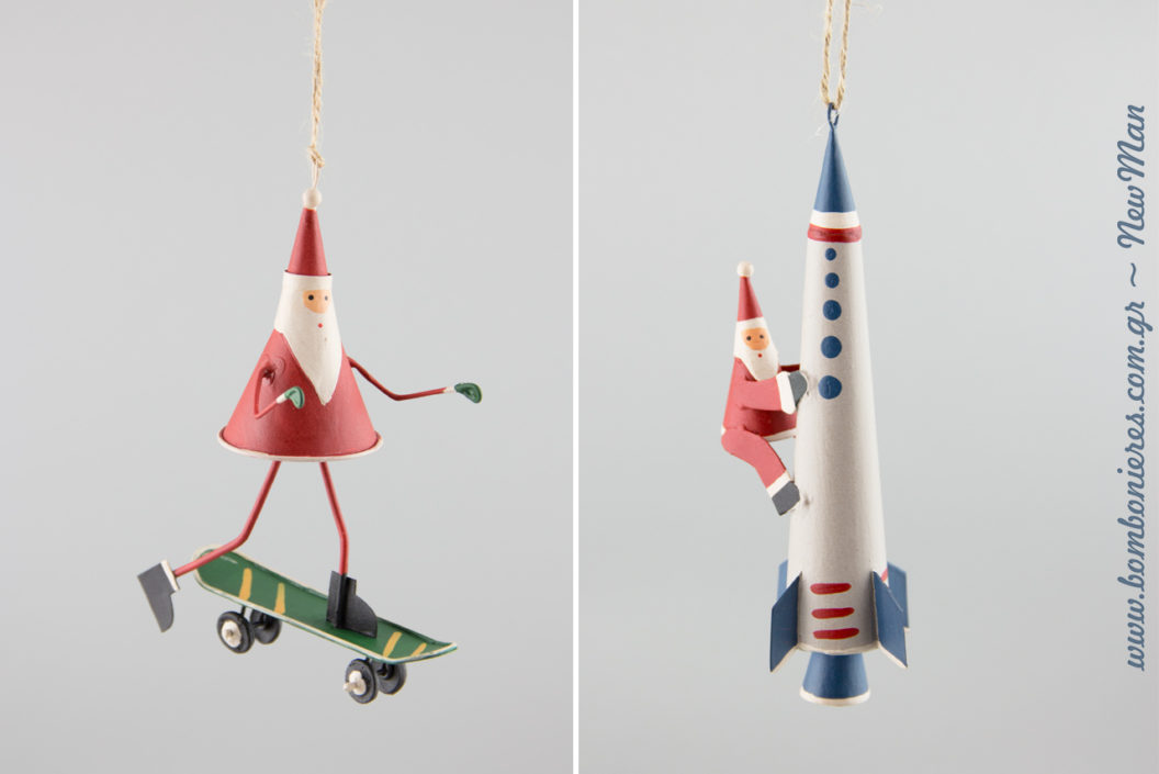 Πρωτότυπα κρεμαστά αγιοβασιλιάτικα στολίδια για μια χριστουγεννιάτικη διακόσμηση που θα ξετρελάνει μικρούς και μεγάλους.