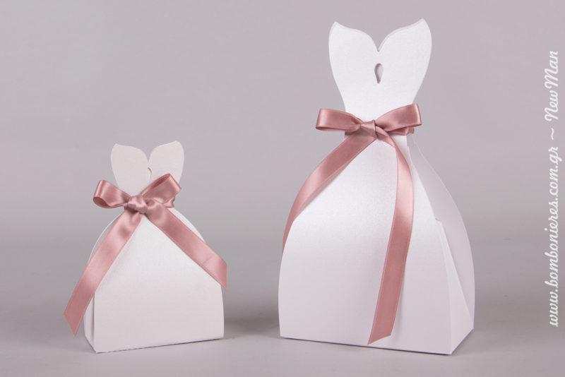 Για το κουτί Νύφη μπορείτε να διαλέξετε κορδέλα σε όποιο χρώμα επιθυμείτε.