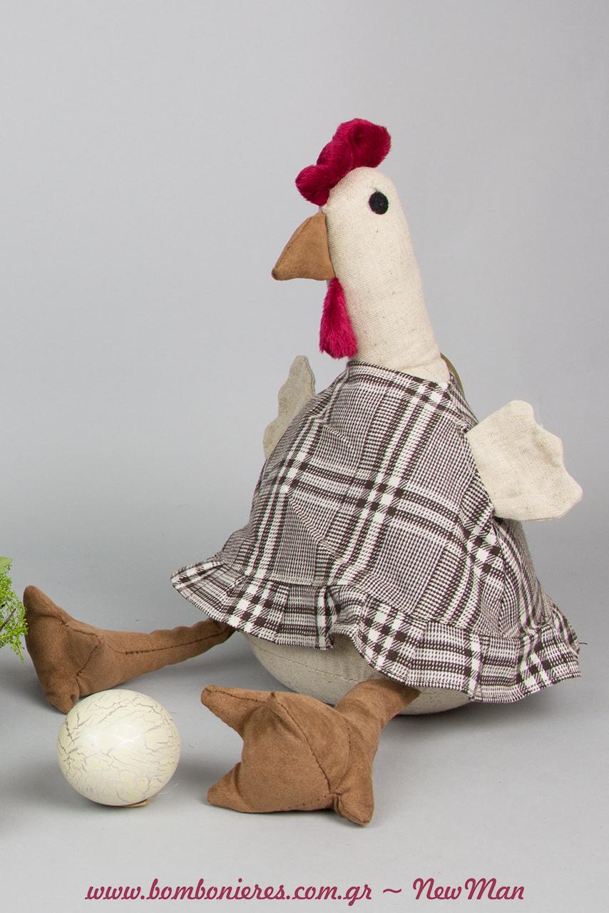 Πανέμορφη κοτούλα με καρό φορεματάκι που είναι ταυτόχρονα και ένα πρακτικότατο Doorstop.
