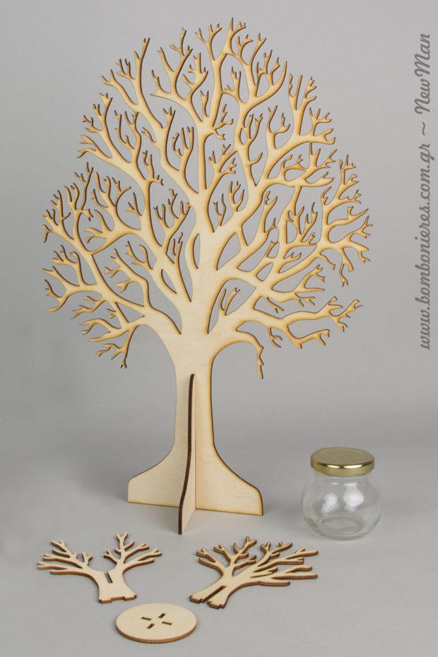 Μεγάλο ξύλινο Δέντρο (40cm) για τη διακόσμηση και το στολισμό της σημαντικής σας ημέρας.