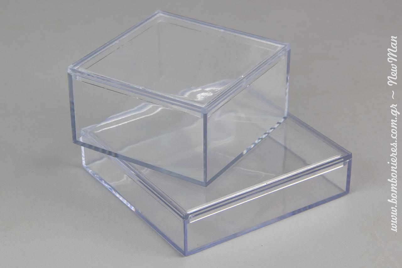 Διάφανα κουτιά σε διαστάσεις: 100 x 100 x 25mm και 80 x 80 x 40mm. Στον αναλυτικό πίνακα παρακάτω θα βρείτε τις τιμές τους με και χωρίς την εκτύπωση.