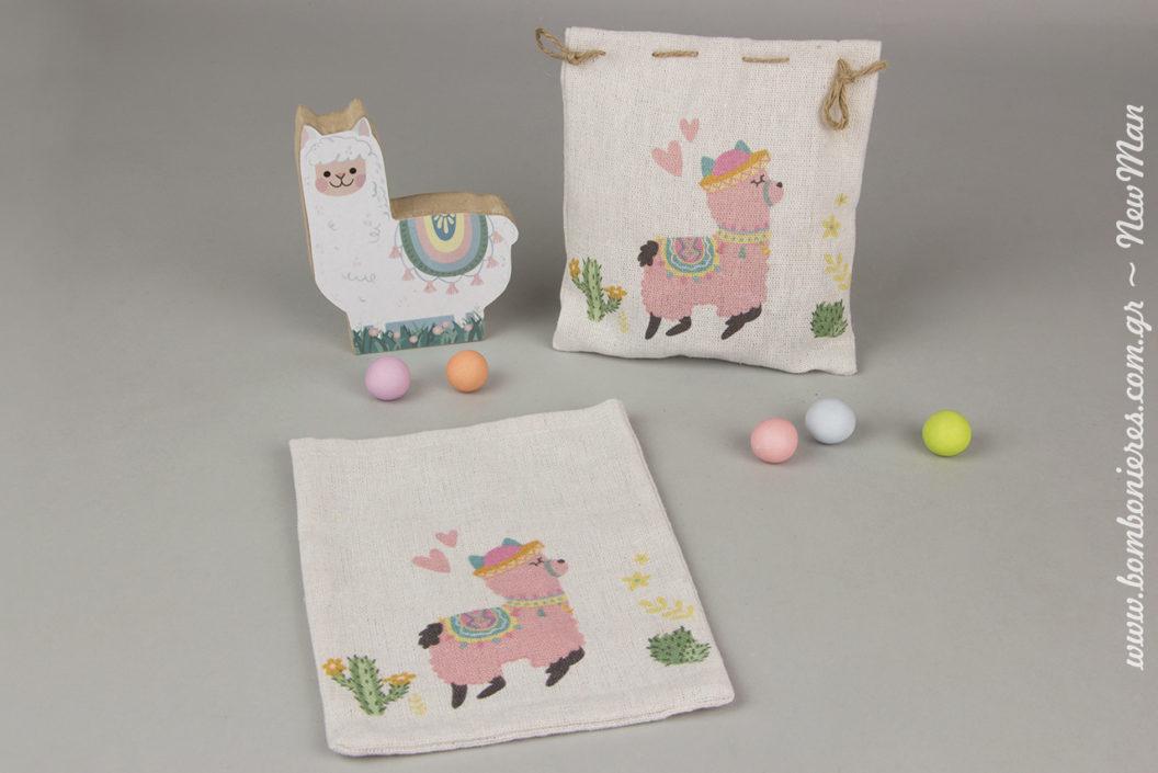 Θέμα «Sweet baby Llama» για τις μπομπονιέρες και τον στολισμό της κοριτσίστικης βάπτισης.